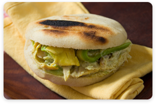 Arepas - a popular food dish in Venezuela.