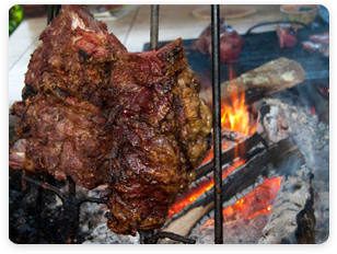 Venezuelan BBQ - meat, chicken, lamb and other styles of meats.