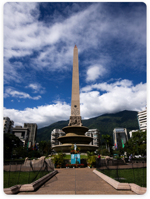 Obelisk Tourist Attraction in Caracas, Venezuela's Town Square