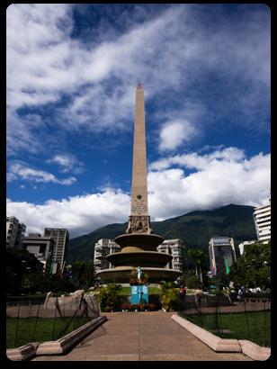 Obelisk in Caracas, Venezuela's Town Square